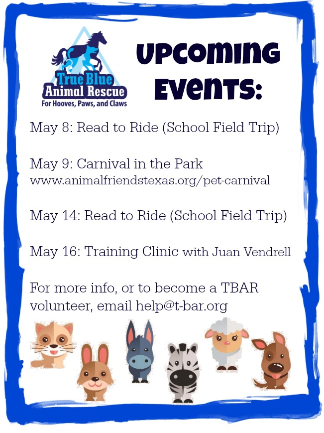 True-Blue-Animal-Rescue-Upcoming-Events-May-2015